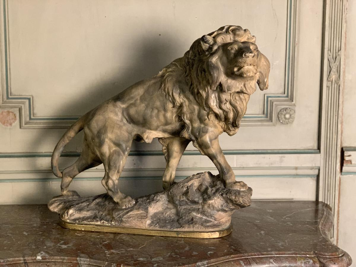 Sculpture In Earth, Lion Sign A Amorgasti