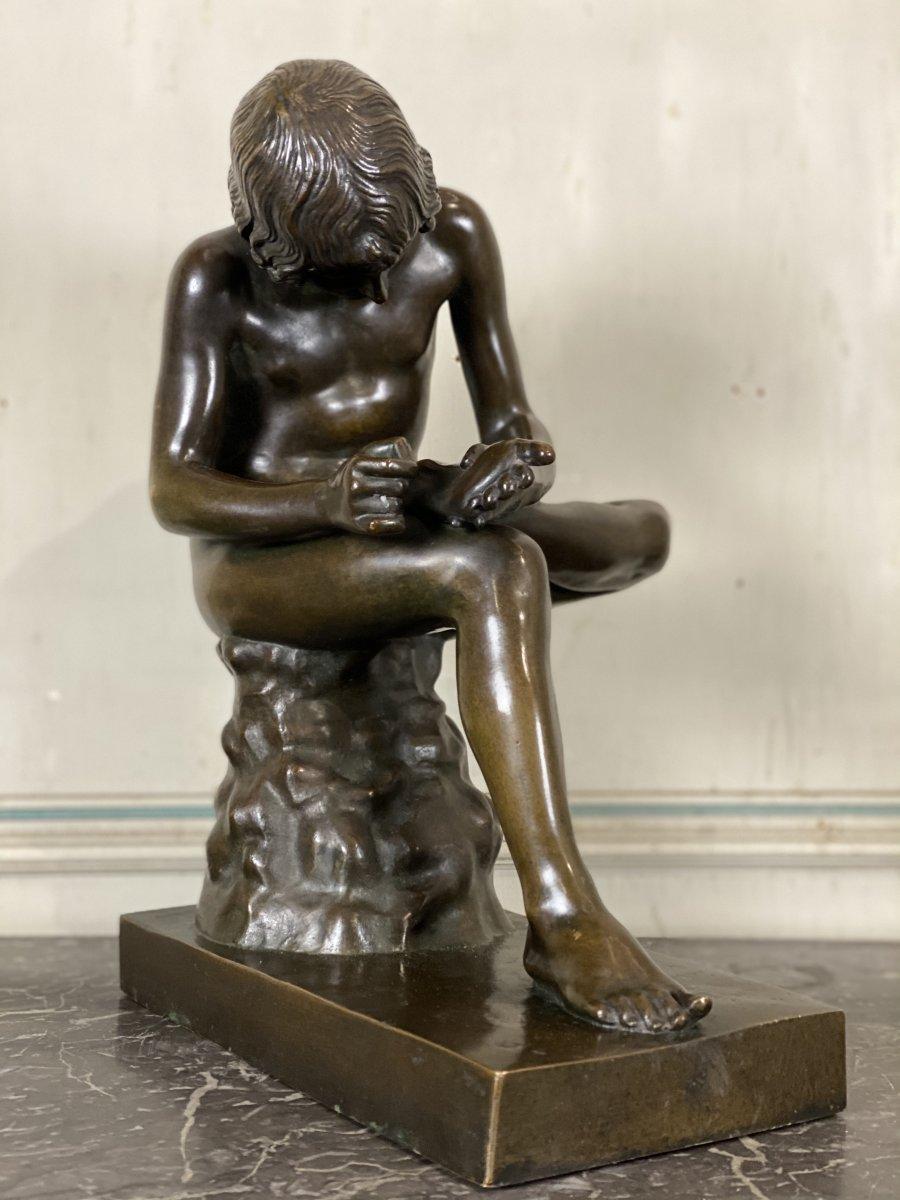 Le Spinario Ou Tireur D'épine, Bronze D'après L'antique