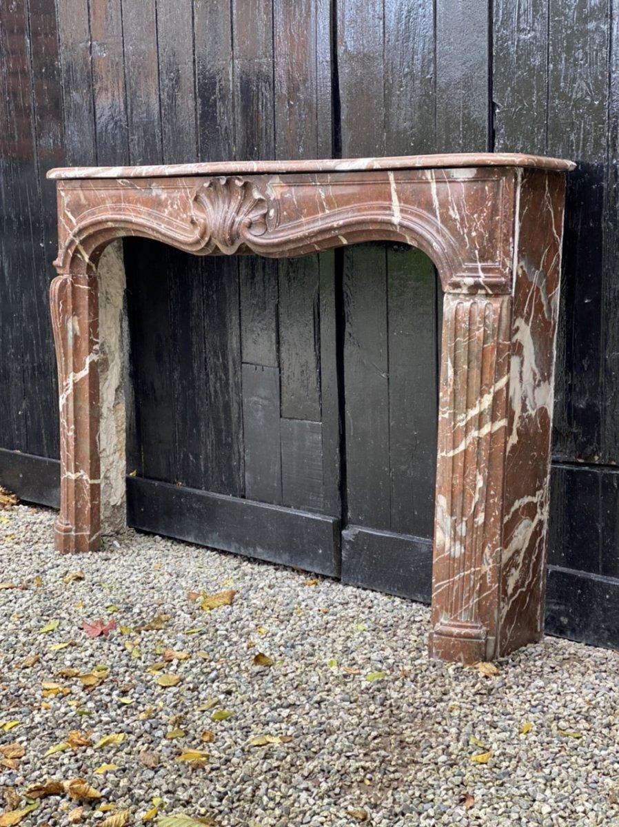 Louis XV Fireplace In Rances Marble XVIIIth Century
