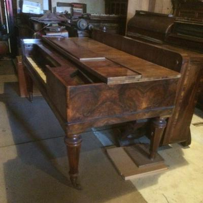 "Piano Table Vers 1845 ""huni Et Hubert"" Zurich"