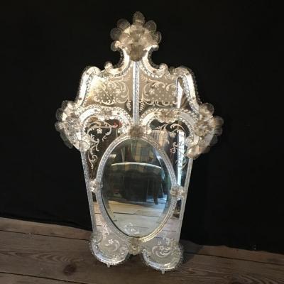Miroir Venise Murano Début XXème