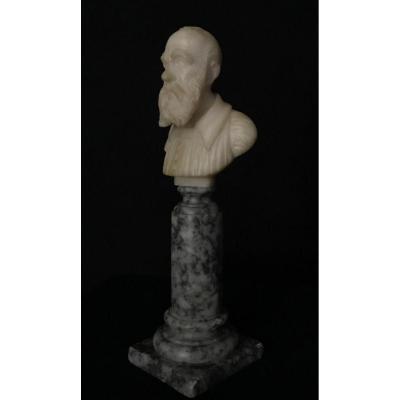 Buste En Albâtre Fin XIXéme Siècle, Italie
