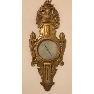 Louis XVI Barometer In Golden Wood