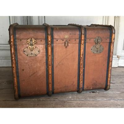 Travel Trunk Around 1900 By Charles Delvaux