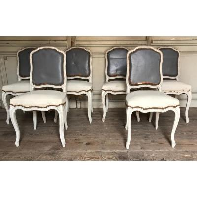 Suite Six Louis XV Style Chairs