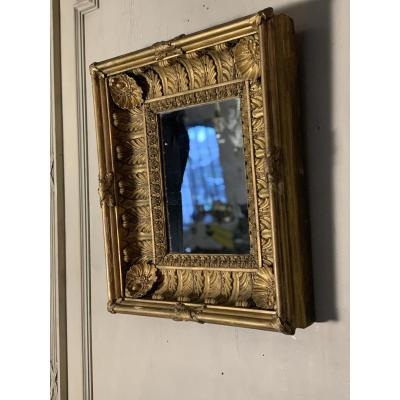 Carved Golden Wood Frame, Early XIXth Century