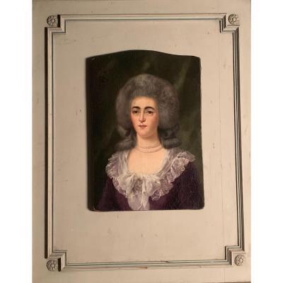 Huile Sur Toile, Portrait D'une Baronne