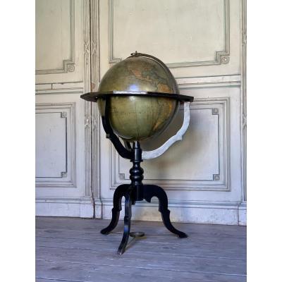 Globe Terrestre De Parquet, XIXéme Siècle, A. Benoit à Paris