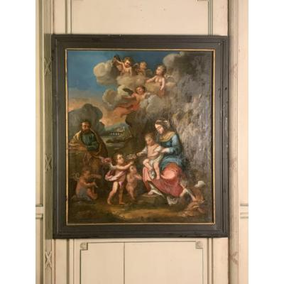 Oil On Canvas, Religious Scene End Seventeenth Century