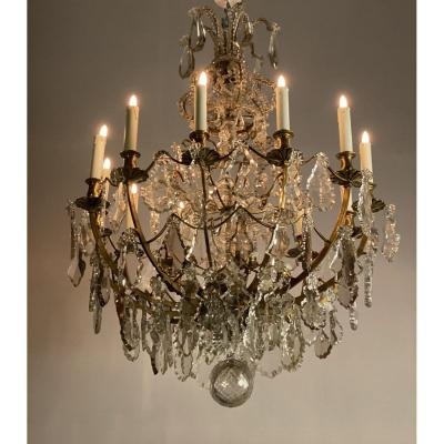 Chandelier With Cut Crystal Pendants