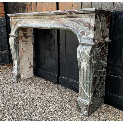 Fireplace Marble Campan Grand Mélange Louis XIV Style