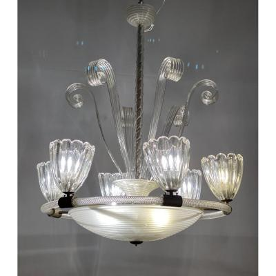 Murano Glass Chandelier Around 1940