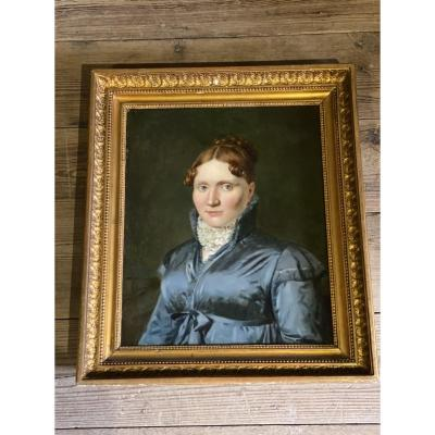 Oil On Canvas, Female Portrait Signed And Dated F. Van Dorne