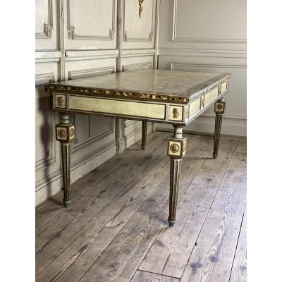 Table En Bois Polychrome De Style Louis XVI, Italie
