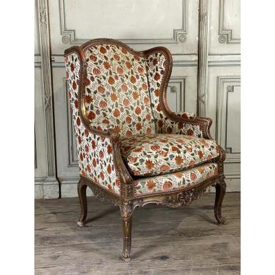Fauteuil De Style Régence En Bois Doré