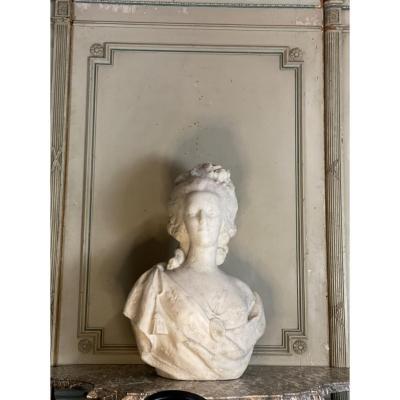 Marie-antoinette, Carrara Marble Bust