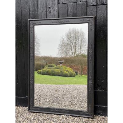 Miroir dans un cadre début XIXème siècle Patine Noire