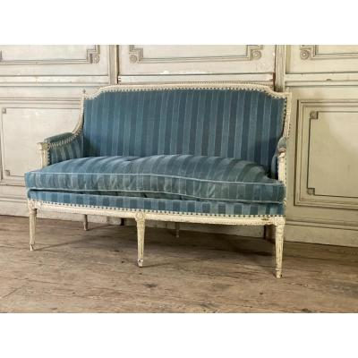 Banquette Louis XVI, 6 Pieds, Fin XVIIIème Siècle
