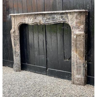 Louis XV Fireplace In Waulsort Marble