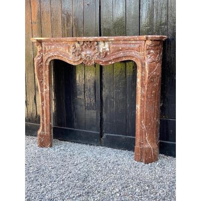 Louis XV Style Fireplace In Rance Marble