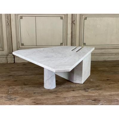 Postmodernist Carrara Marble Table