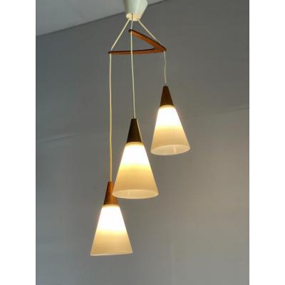 Lustre Trigniac, Phillips Vers 1960, Trois Lampes Laigle