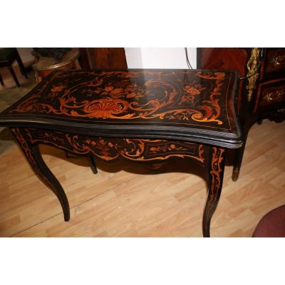 Game Table In Marquetry