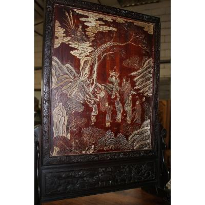 Chinese Screen In Coromandel Lacquer