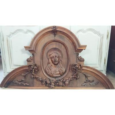chapiteau de  Retable     Finement  Sculptées