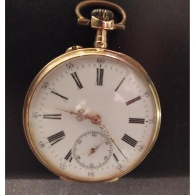18k Gold Pocket Watch Tete De Cheval 1850