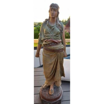Terracotta Sculpture F. Goldscheider. Judith Polychrome