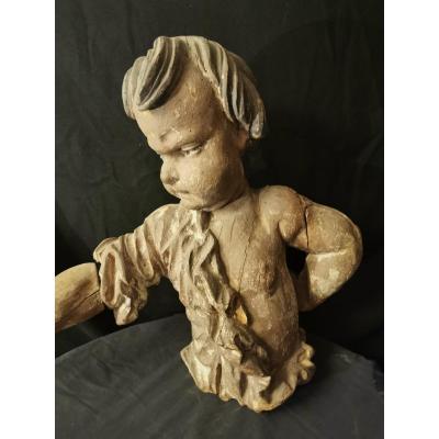 Sculpture En Bois Enfant