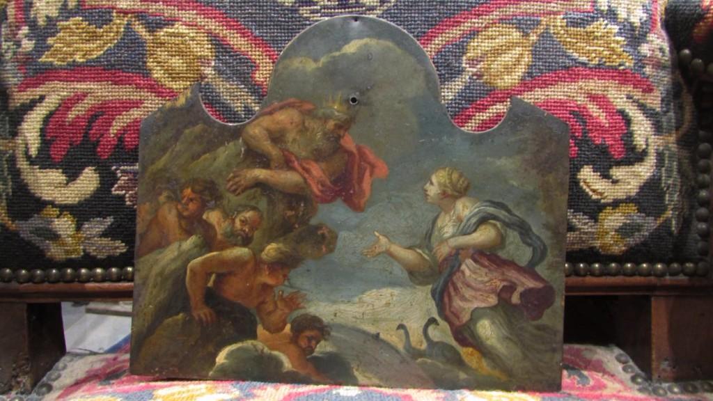 Célèbre Ancien Tableau Huile Sur Cuivre 17e 18e mythologie Dieux Grecs  JB95