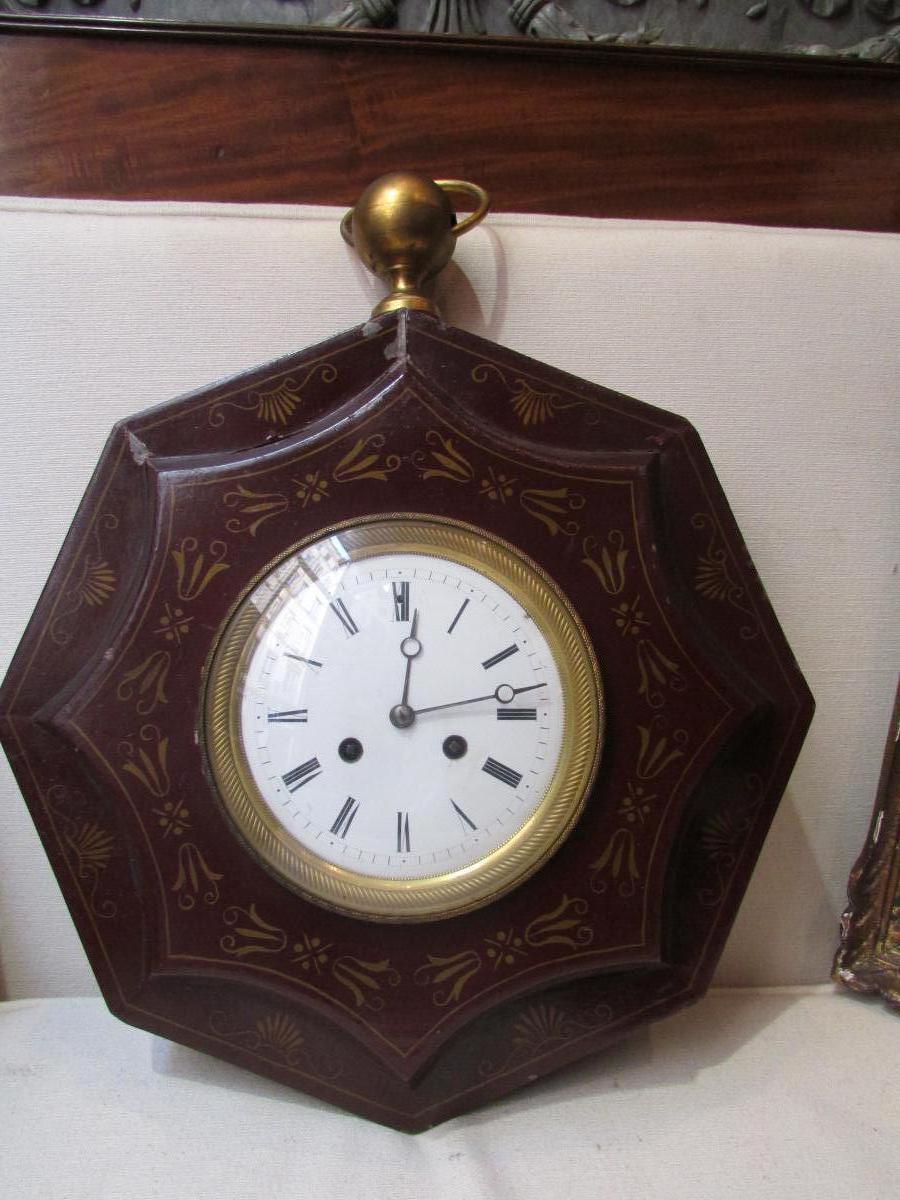 cartel d 39 applique en tole peinte epoque 1900 style empire carillon pendule cartels anciens. Black Bedroom Furniture Sets. Home Design Ideas