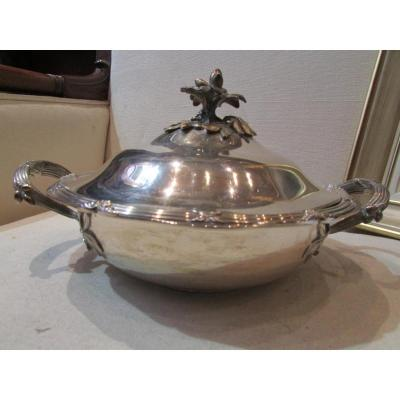 Vegetable Soup Tureen In Sterling Silver Minerve Poincon Louis XVI Style