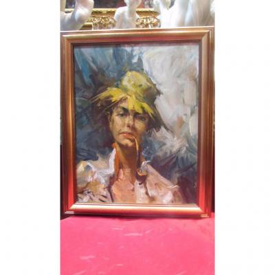 Durando Togo Richard Oil Painting On Canvas Garconne Gypsy Tziganne Bohemian