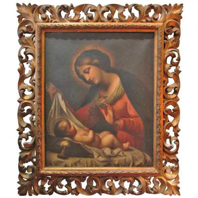 Table XIX Old Italian School A Virgin Madonna And Child Oil On Canvas