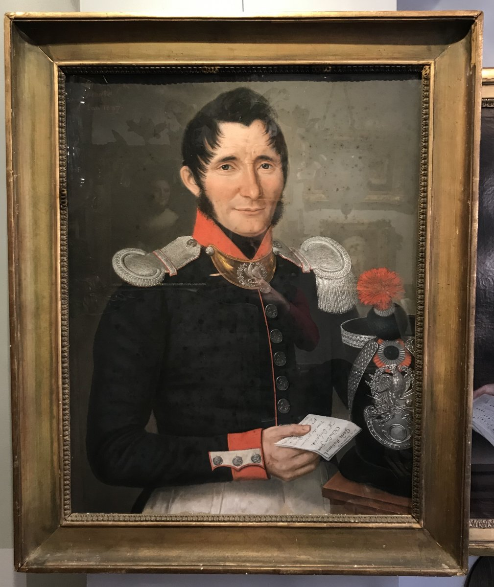 Portrait Of A Captain Of The National Guard, Pastel 1837