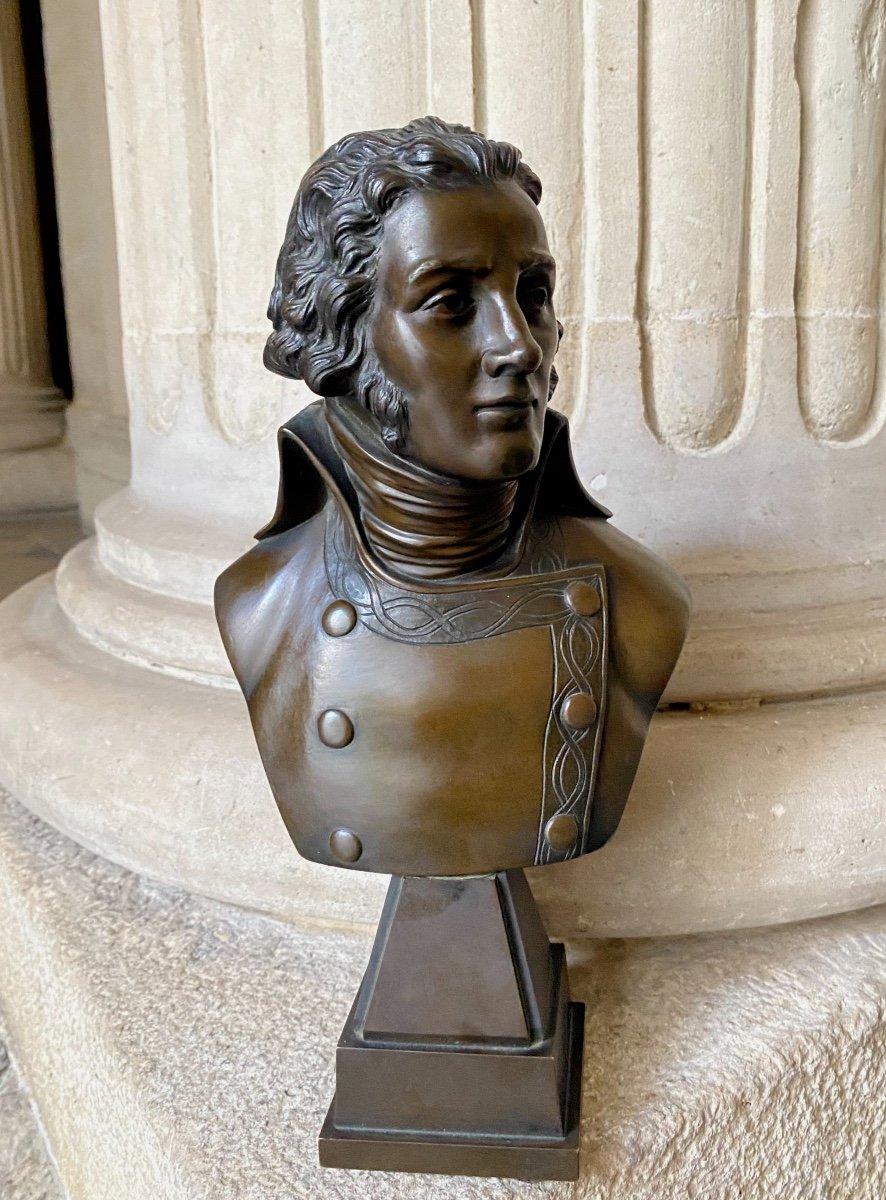 Lazare Hoche, Buste En Bronze Milieu 19ème Siècle
