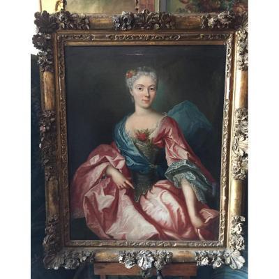 Grand Portrait d'Une Dame De Qualité, Alexis Simon Belle (entourage de)