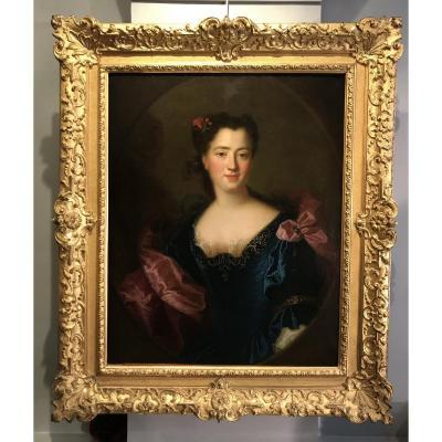 Portait De Femme, Alexis Simon Belle vers 1720