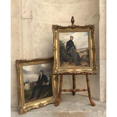 Portraits d'Antoine d'Haudricourt et de Son Fils en 1823