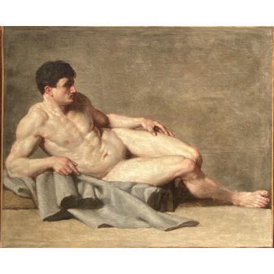 Académie D'homme Vers 1850