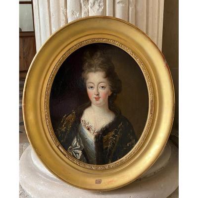 Portrait De Anne-Louise De Bourbon, Huile Sur Toile Vers 1695