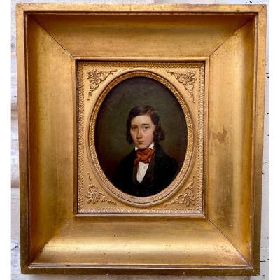 Portrait De Jeune Homme Vers 1840
