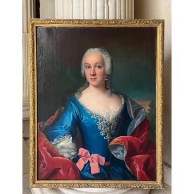 Portrait D'une Dame De La Noblesse, par Franz Lippoldt en 1745