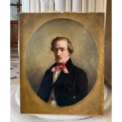 Portrait De Jeune Homme Vers 1830