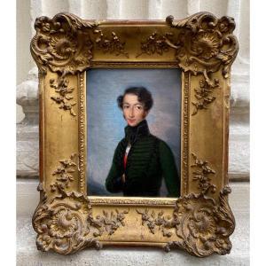 Portrait D'un Jeune Militaire Vers 1820