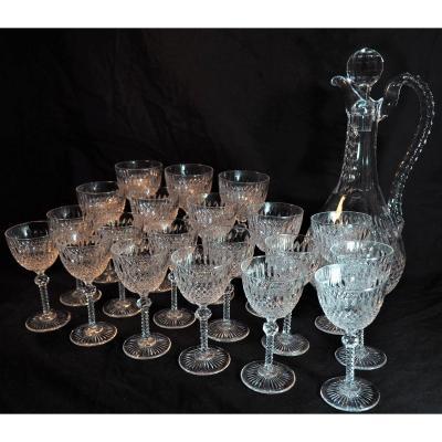 Cut Crystal Wine Service - Daum - XIX I Century