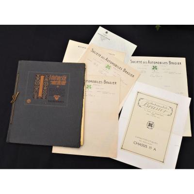 Lot Livrets Catalogues Publicitaires Et Divers - Automobiles Brasier De 1914